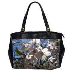 Cherry Blossoms Oversize Office Handbag (two Sides)