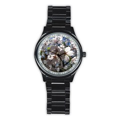 Cherry Blossoms Sport Metal Watch (black) by DmitrysTravels