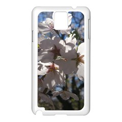 Cherry Blossoms Samsung Galaxy Note 3 N9005 Case (white) by DmitrysTravels
