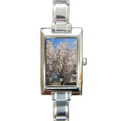 Cherry Blossoms Tree Rectangular Italian Charm Watch by DmitrysTravels