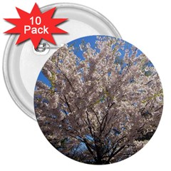 Cherry Blossoms Tree 3  Button (10 Pack) by DmitrysTravels