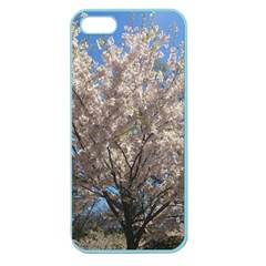 Cherry Blossoms Tree Apple Seamless Iphone 5 Case (color) by DmitrysTravels