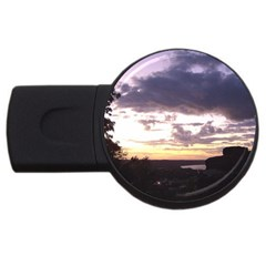 Sunset Over The Valley 2gb Usb Flash Drive (round) by Majesticmountain