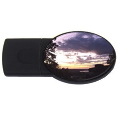 Sunset Over The Valley 4gb Usb Flash Drive (oval)