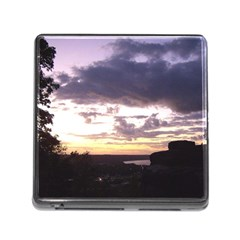 Sunset Over The Valley Memory Card Reader With Storage (square)