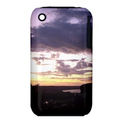 Sunset Over The Valley Apple Iphone 3g/3gs Hardshell Case (pc+silicone) by Majesticmountain