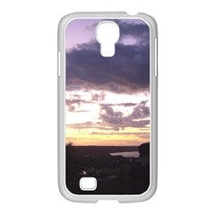 Sunset Over The Valley Samsung Galaxy S4 I9500/ I9505 Case (white) by Majesticmountain