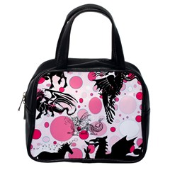 Fantasy In Pink Classic Handbag (one Side)
