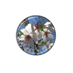 Cherry Blossoms Golf Ball Marker 4 Pack (for Hat Clip) by DmitrysTravels