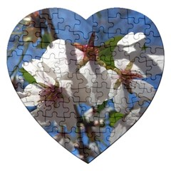 Cherry Blossoms Jigsaw Puzzle (heart) by DmitrysTravels
