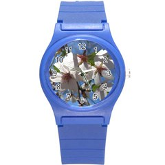 Cherry Blossoms Plastic Sport Watch (small) by DmitrysTravels