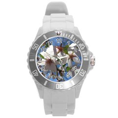 Cherry Blossoms Plastic Sport Watch (large) by DmitrysTravels