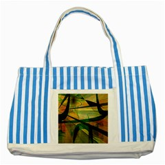 Untitled Blue Striped Tote Bag by Zuzu