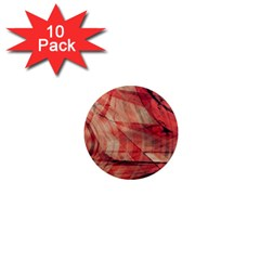 Grey And Red 1  Mini Button Magnet (10 Pack) by Zuzu