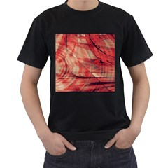 Grey And Red Men s T Shirt (black)