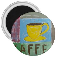 Kaffe Painting 3  Button Magnet by StuffOrSomething