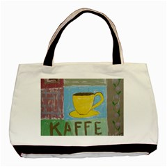 Kaffe Painting Twin Sided Black Tote Bag by StuffOrSomething