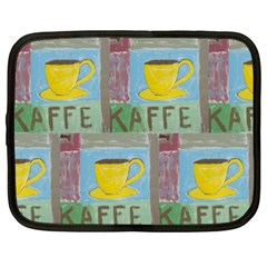 Kaffe Painting Netbook Sleeve (xxl) by StuffOrSomething