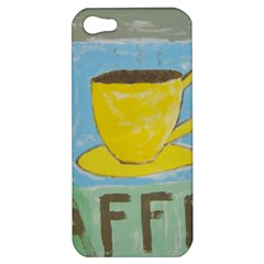 Kaffe Painting Apple Iphone 5 Hardshell Case by StuffOrSomething
