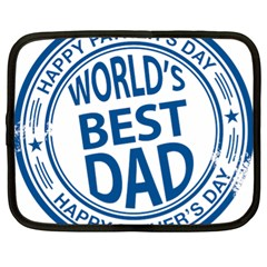 Fathers Day Rubber Stamp Effect Netbook Sleeve (xl)