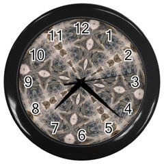 Flowing Waters Kaleidoscope Wall Clock (black) by Fractalsandkaleidoscopes