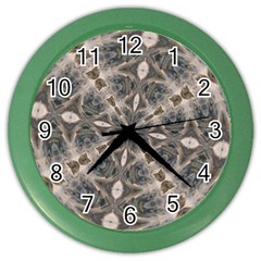 Flowing Waters Kaleidoscope Wall Clock (color) by Fractalsandkaleidoscopes