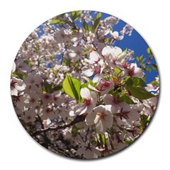 Cherry Blossoms 8  Mouse Pad (round)