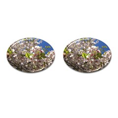 Cherry Blossoms Cufflinks (oval) by DmitrysTravels
