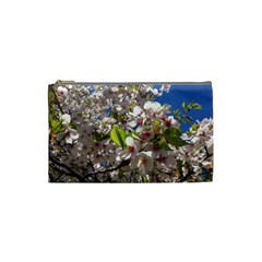 Cherry Blossoms Cosmetic Bag (small) by DmitrysTravels
