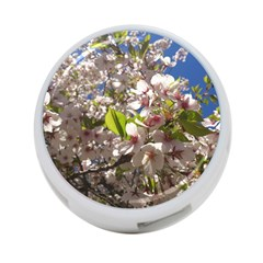 Cherry Blossoms 4 Port Usb Hub (two Sides) by DmitrysTravels