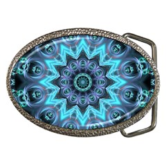 Star Connection, Abstract Cosmic Constellation Belt Buckle (oval)