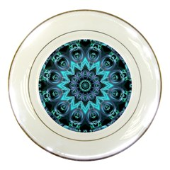 Star Connection, Abstract Cosmic Constellation Porcelain Display Plate by DianeClancy