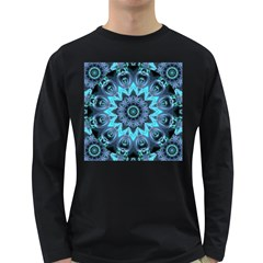 Star Connection, Abstract Cosmic Constellation Men s Long Sleeve T Shirt (dark Colored)
