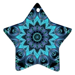 Star Connection, Abstract Cosmic Constellation Star Ornament (two Sides) by DianeClancy