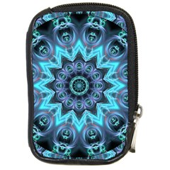 Star Connection, Abstract Cosmic Constellation Compact Camera Leather Case by DianeClancy
