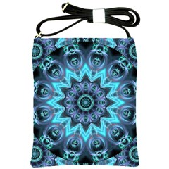 Star Connection, Abstract Cosmic Constellation Shoulder Sling Bag by DianeClancy