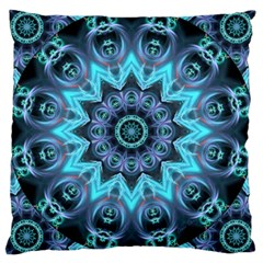 Star Connection, Abstract Cosmic Constellation Large Cushion Case (single Sided)  by DianeClancy