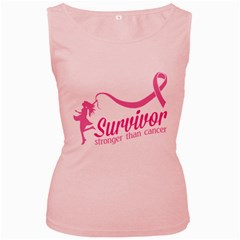 Survivor Stronger Than Cancer Pink Ribbon Women s Tank Top (pink) by breastcancerstuff