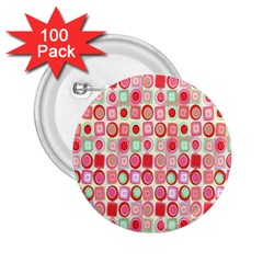 Far Out Geometrics 2 25  Button (100 Pack) by StuffOrSomething