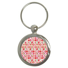 Far Out Geometrics Key Chain (round)