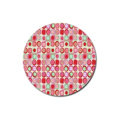 Far Out Geometrics Drink Coaster (round) by StuffOrSomething