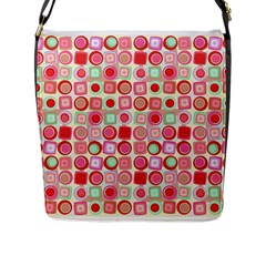 Far Out Geometrics Flap Closure Messenger Bag (large) by StuffOrSomething