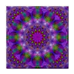 Rainbow At Dusk, Abstract Star Of Light Ceramic Tile by DianeClancy