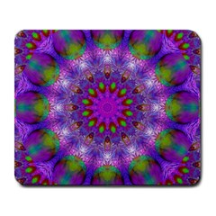 Rainbow At Dusk, Abstract Star Of Light Large Mouse Pad (rectangle) by DianeClancy