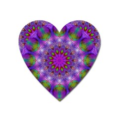 Rainbow At Dusk, Abstract Star Of Light Magnet (heart) by DianeClancy