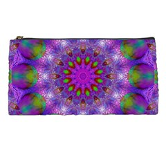 Rainbow At Dusk, Abstract Star Of Light Pencil Case by DianeClancy