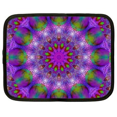 Rainbow At Dusk, Abstract Star Of Light Netbook Sleeve (xxl) by DianeClancy