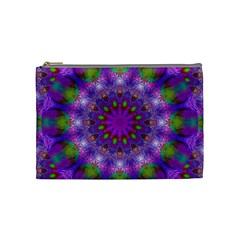 Rainbow At Dusk, Abstract Star Of Light Cosmetic Bag (medium) by DianeClancy