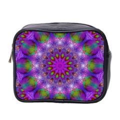 Rainbow At Dusk, Abstract Star Of Light Mini Travel Toiletry Bag (two Sides) by DianeClancy