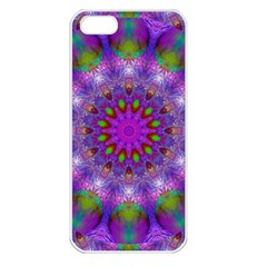 Rainbow At Dusk, Abstract Star Of Light Apple Iphone 5 Seamless Case (white) by DianeClancy